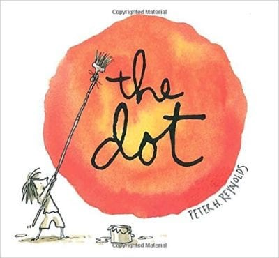 Book cover for The Dot as an example of children's books that teach social skills