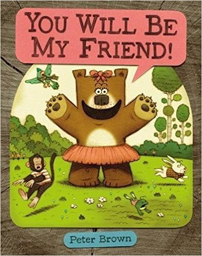 Book cover for YOU WILL BE MY FRIEND as an example of social skills books for kids