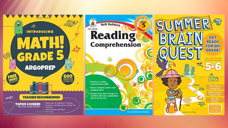 Reading Comprehension, Summer Brain Question, and Argoprep Math for Fifth Grade.