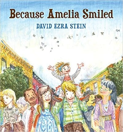 Book cover for Because Amelia Smiled