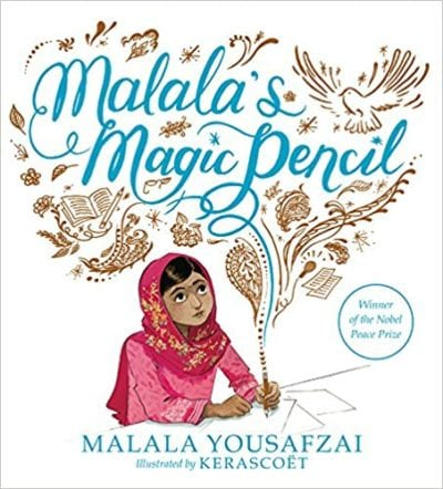 Book cover for Malala's Magic Pencil as an example of social justice books for kids