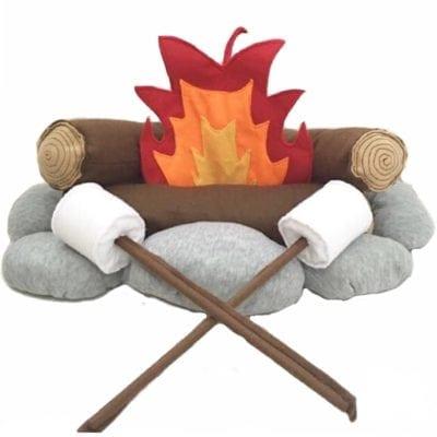 Plush pretend play campfire