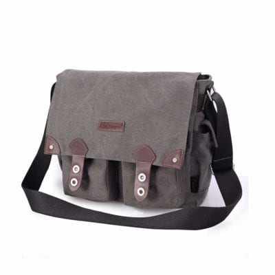 d34a750358 Arrive at school in style with this messenger bag! Made out of high-density  eco-cotton canvas