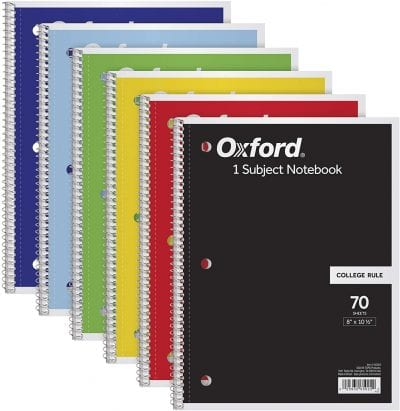 middle school math notebooks