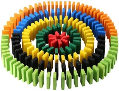 Colorful Wooden Dominoes