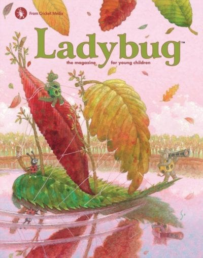 Sample issue of Ladybug magazine as an example of best magazines for kids
