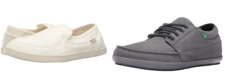 We recommend: Sanuk Pair O Dice for Women and Sanuk Tko for Men