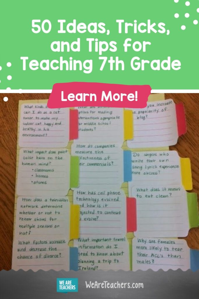 50 Ideas, Tricks, and Tips for Teaching 7th Grade