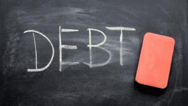 erasing student loan debt on blackboard