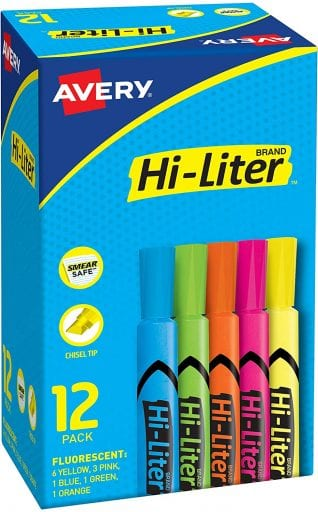 Middle school english highlighters