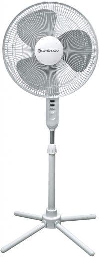 Tall oscillating fan
