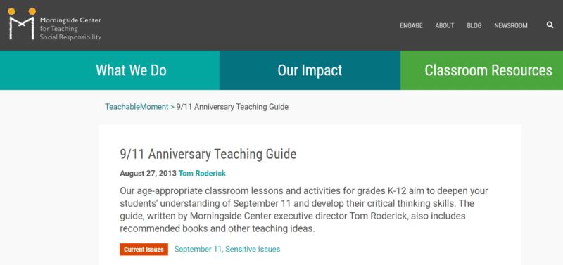 Anniversary teaching guide from Morningside Center