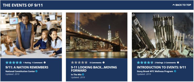 Share My Lesson plans for September 11