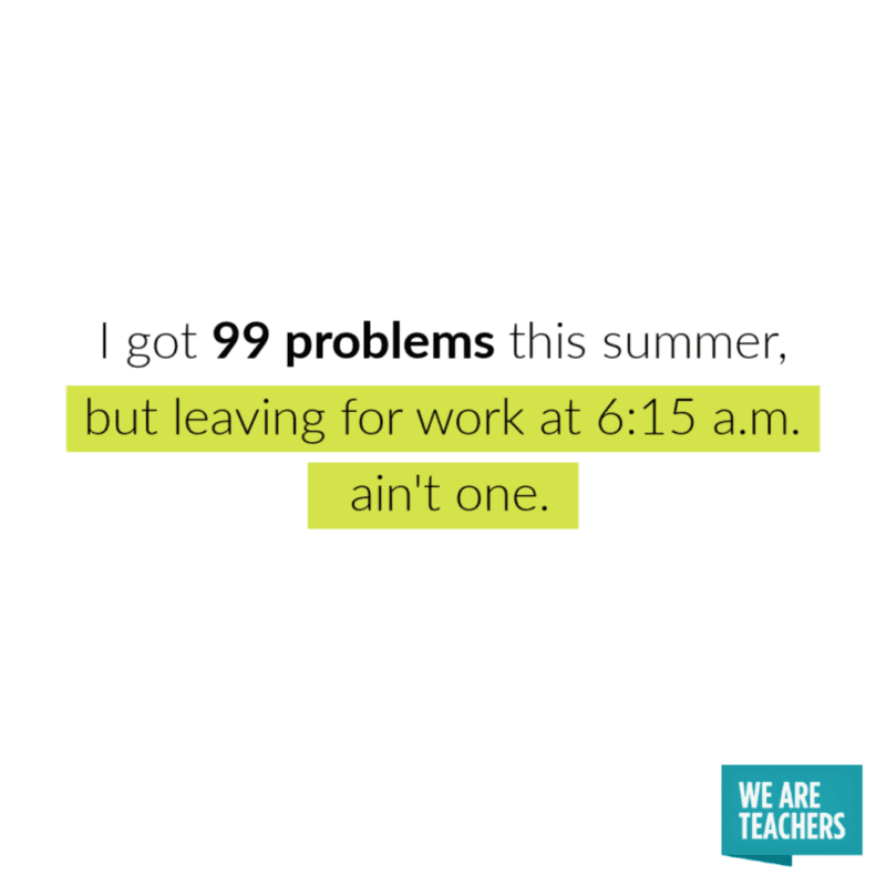 Teacher Summer Meme