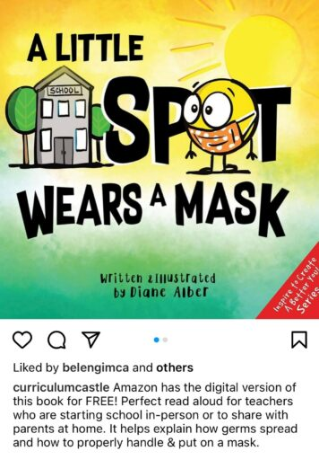 Wearing a mask book for elementary