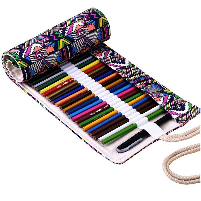 A colorful pencil pouch