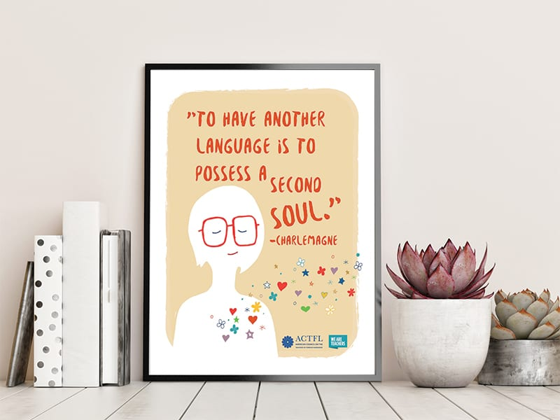 """To have another language is to possess a second soul."" —Charlemagne"