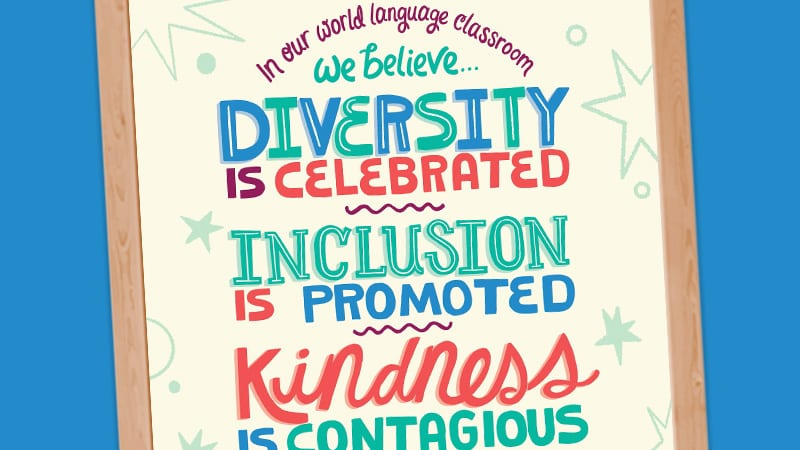 ACTFL Diversity and Inclusion Poster