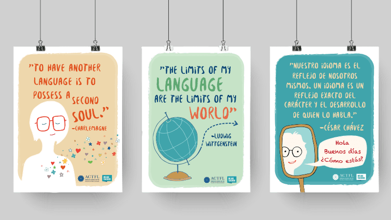 photo about Printable Posters named Worldwide Language Posters in the direction of Motivate Your Learners. Print Them
