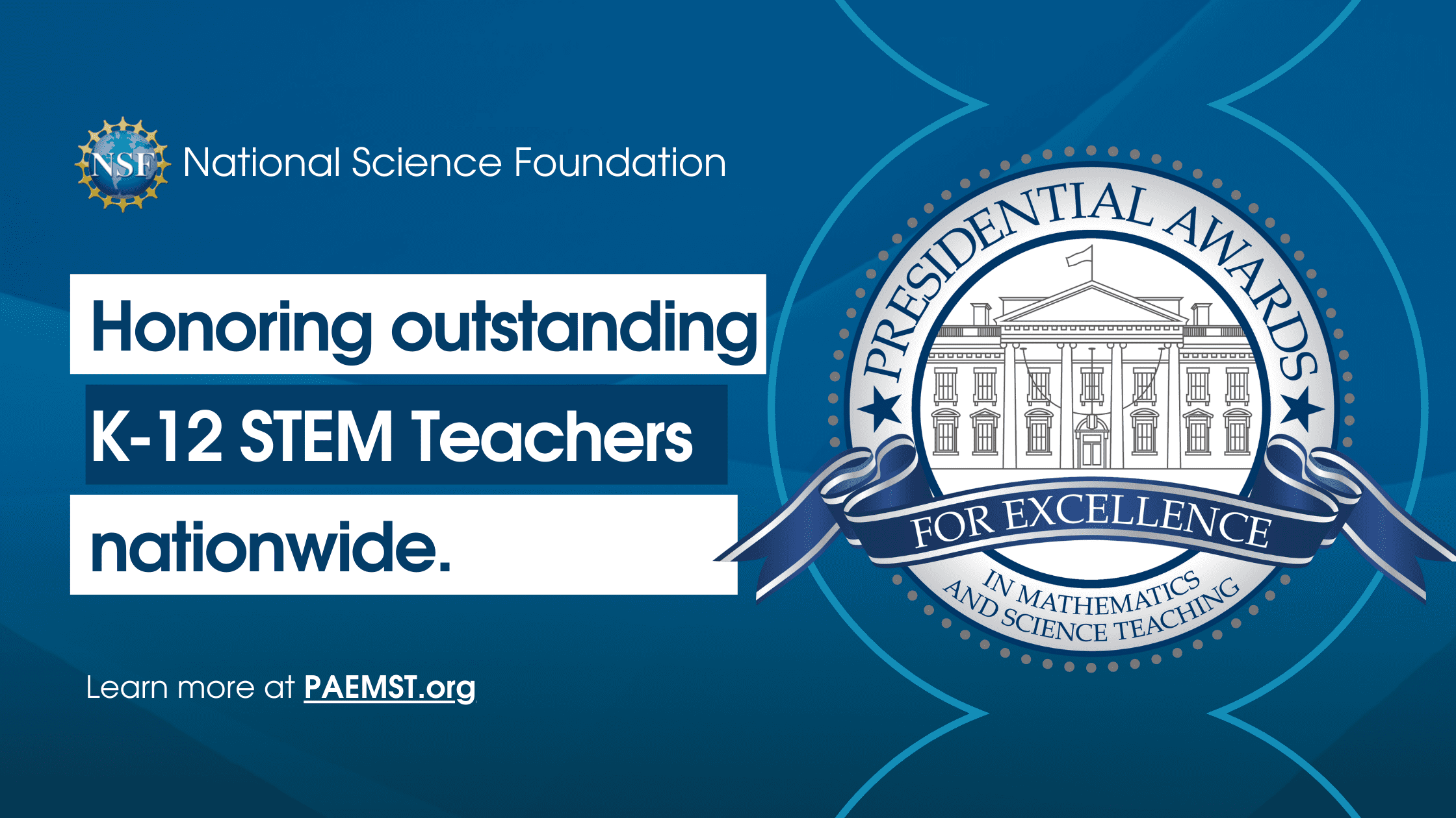 The Presidential Awards for Excellence in Mathematics and Science Teaching Header