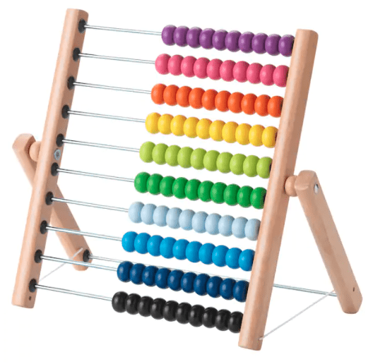 Abacus colored bead learning toy