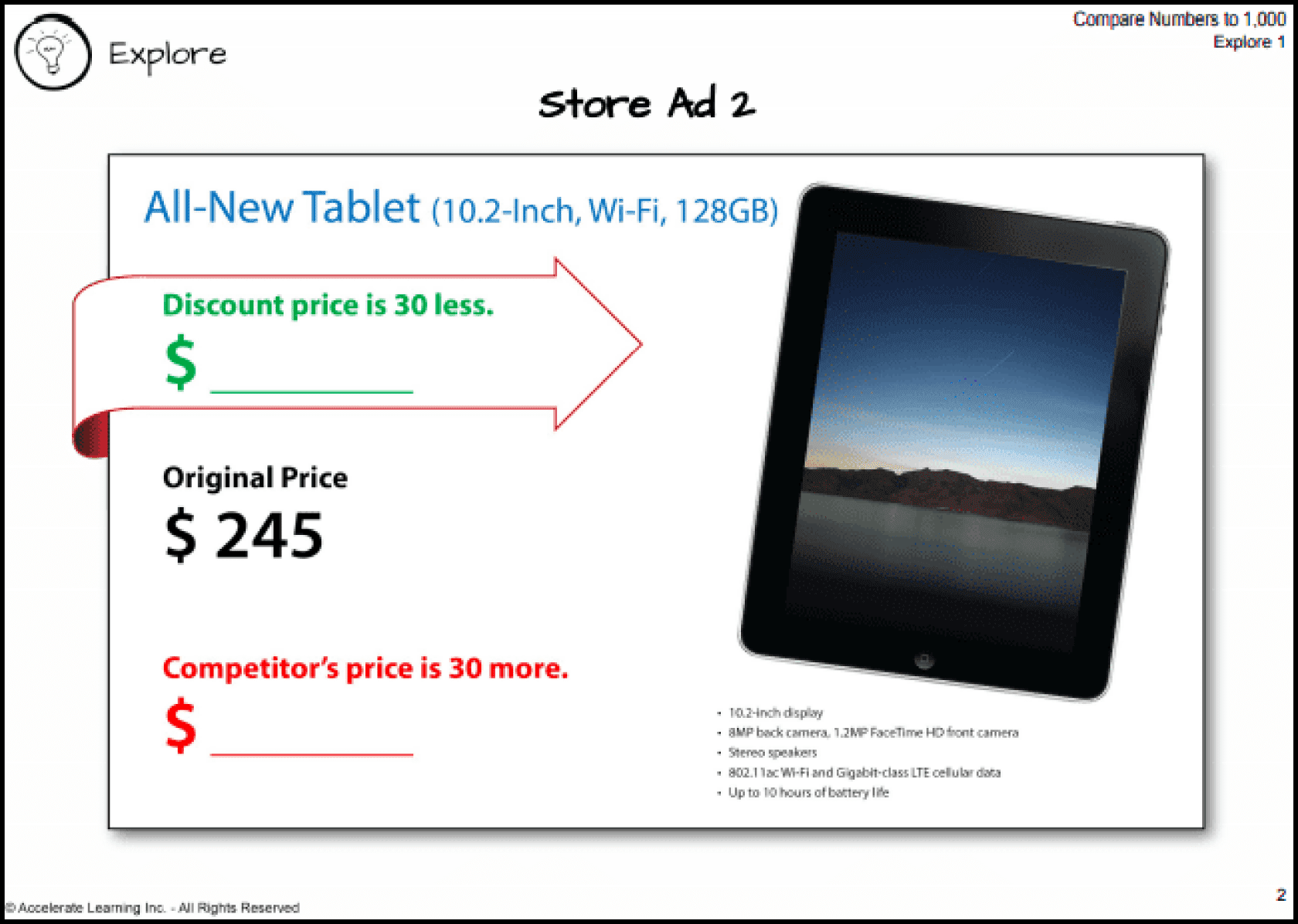image of real world looking ad for an ipad on sale