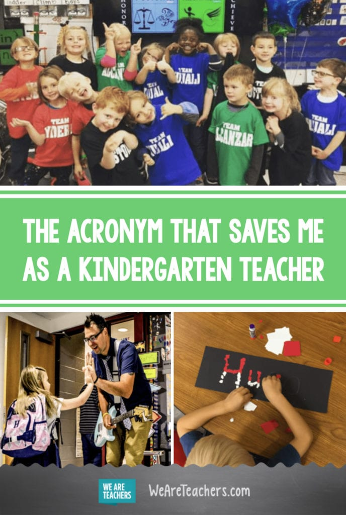 The Acronym That Saves Me as a Kindergarten Teacher