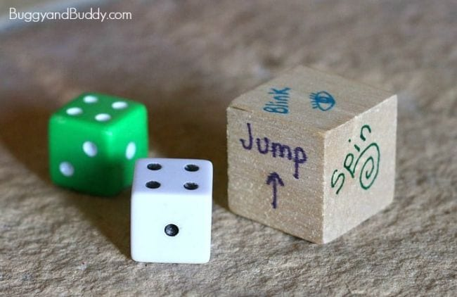 Active Math Games Action Dice
