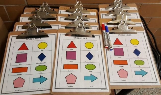 Active Math Games Shape Hunt
