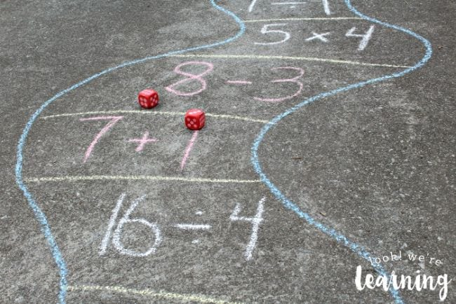 Active Math Games Outdoor Board Game