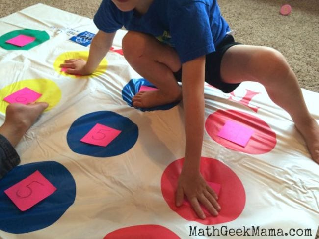 Active Math Games Twister