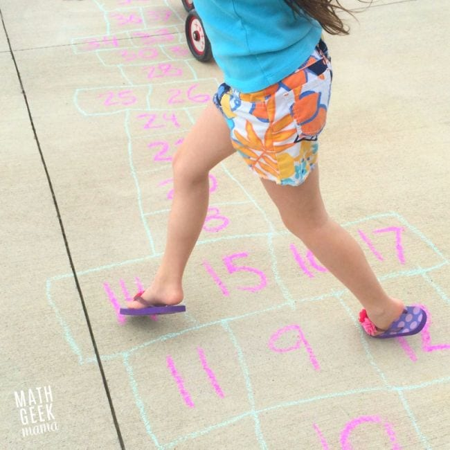 Active Math Games Hopscotch
