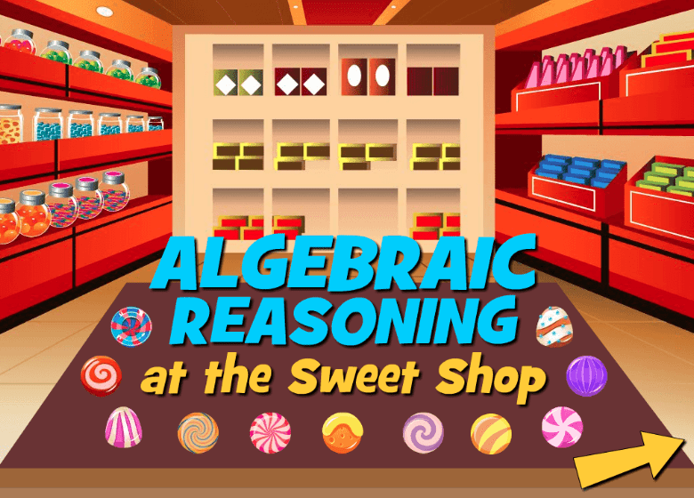 Still of Algebraic Reasoning Sweet Shop best online educational games