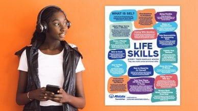 AllState Life Skills Poster.