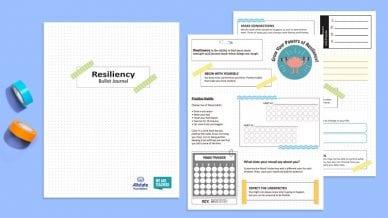 teen resiliency bullet journal