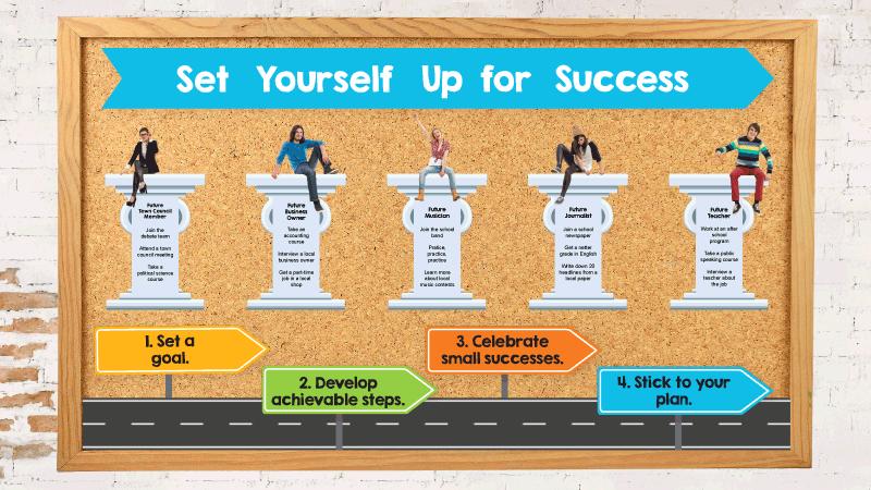 Goals Bulletin Board Kit - Free Printable From WeAreTeachers