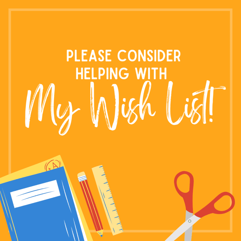 Please consider helping with my wish list!