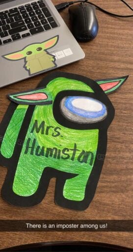 Among Us character craft for classroom decor