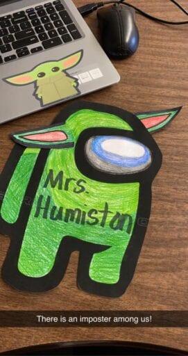 Among Us character craft for classroom decor