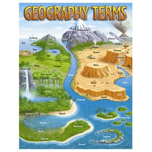 geography terms sheet