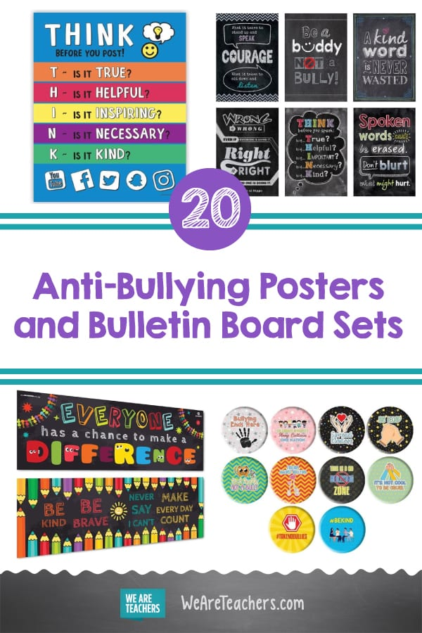 20 Anti-Bullying Posters and Bulletin Board Sets You Can Buy on Amazon