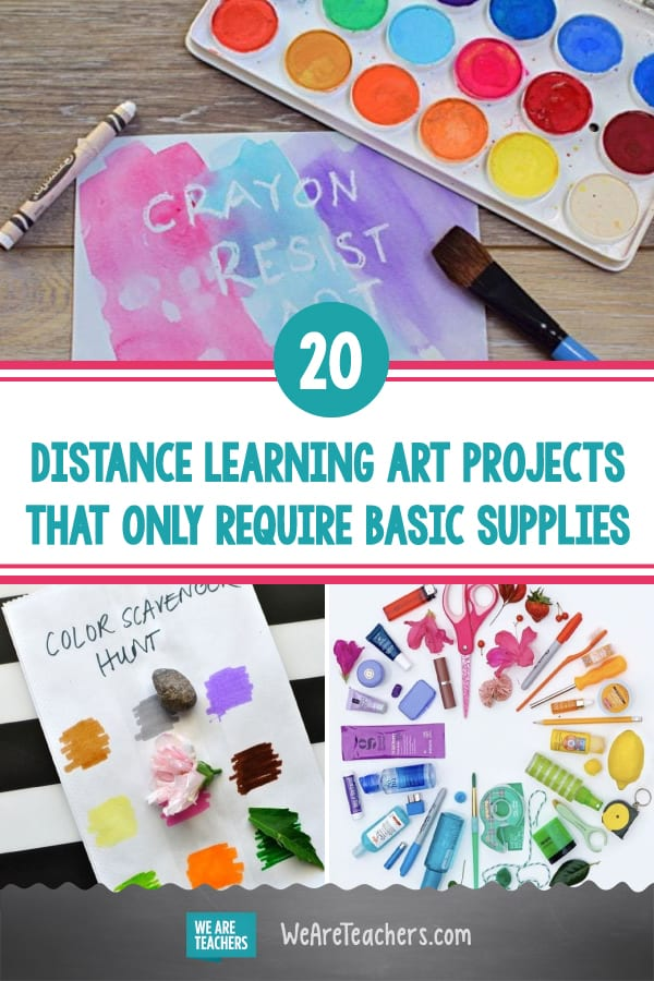 20 Distance Learning Art Projects That Only Require Basic Supplies