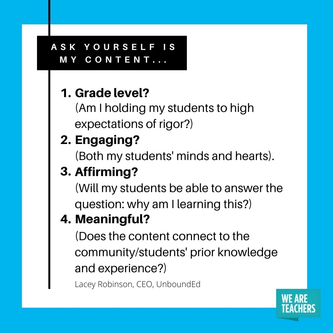 A list of questions teachers can ask themselves to plan lessons for an inclusive classroom.