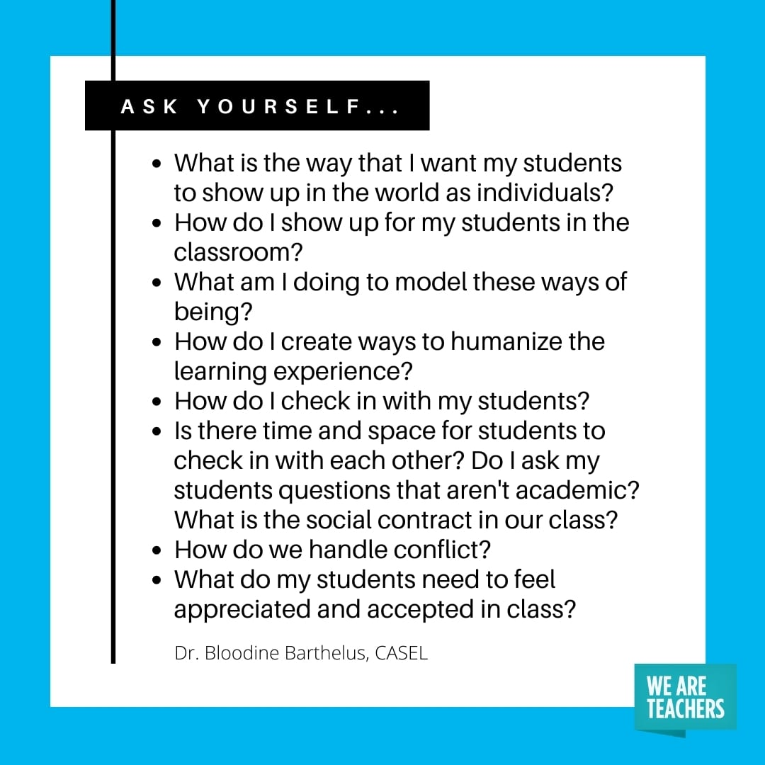 A list of questions teachers can ask themselves to set up an inclusive classroom.