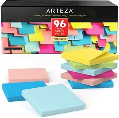 Assorted Colors Sticky Notes