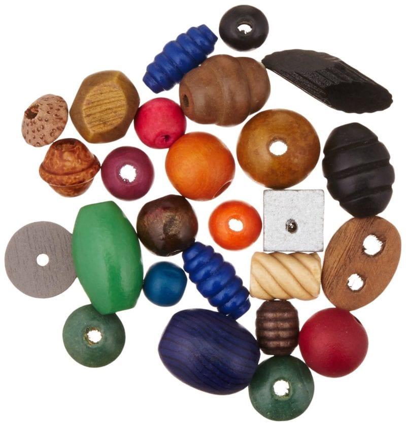 Assorted Wooden Beads - Art Supplies Under $10