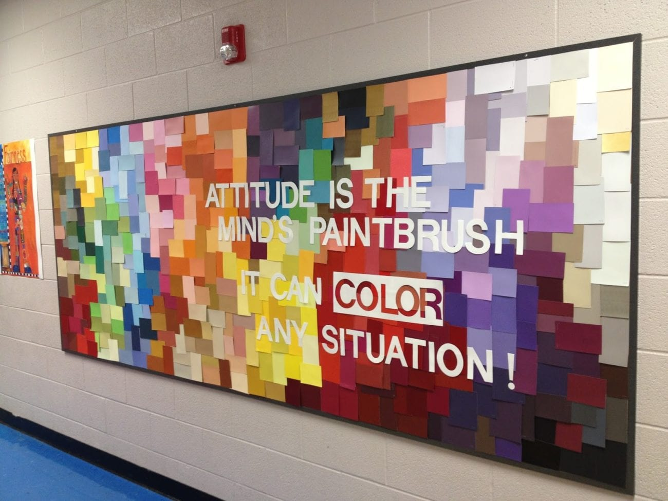 Attitude is the mind's paintbrush rainbow bulletin boards for the classroom