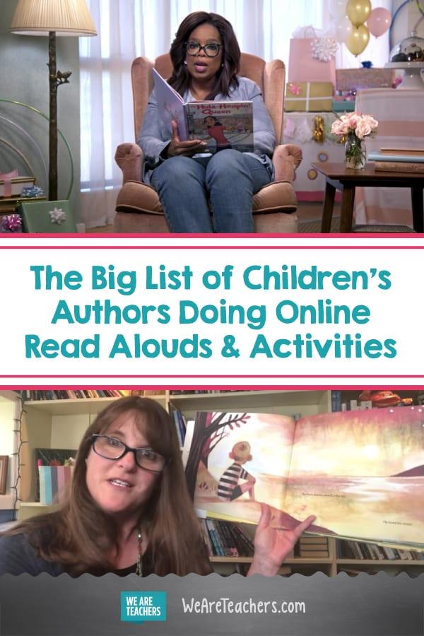 The Big List of Children's Authors Doing Online Read-Alouds & Activities