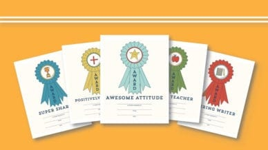 Free Printable Awards for Students