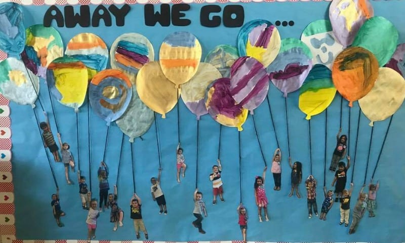 Away We Go - Back to School Bulletin Board Ideas